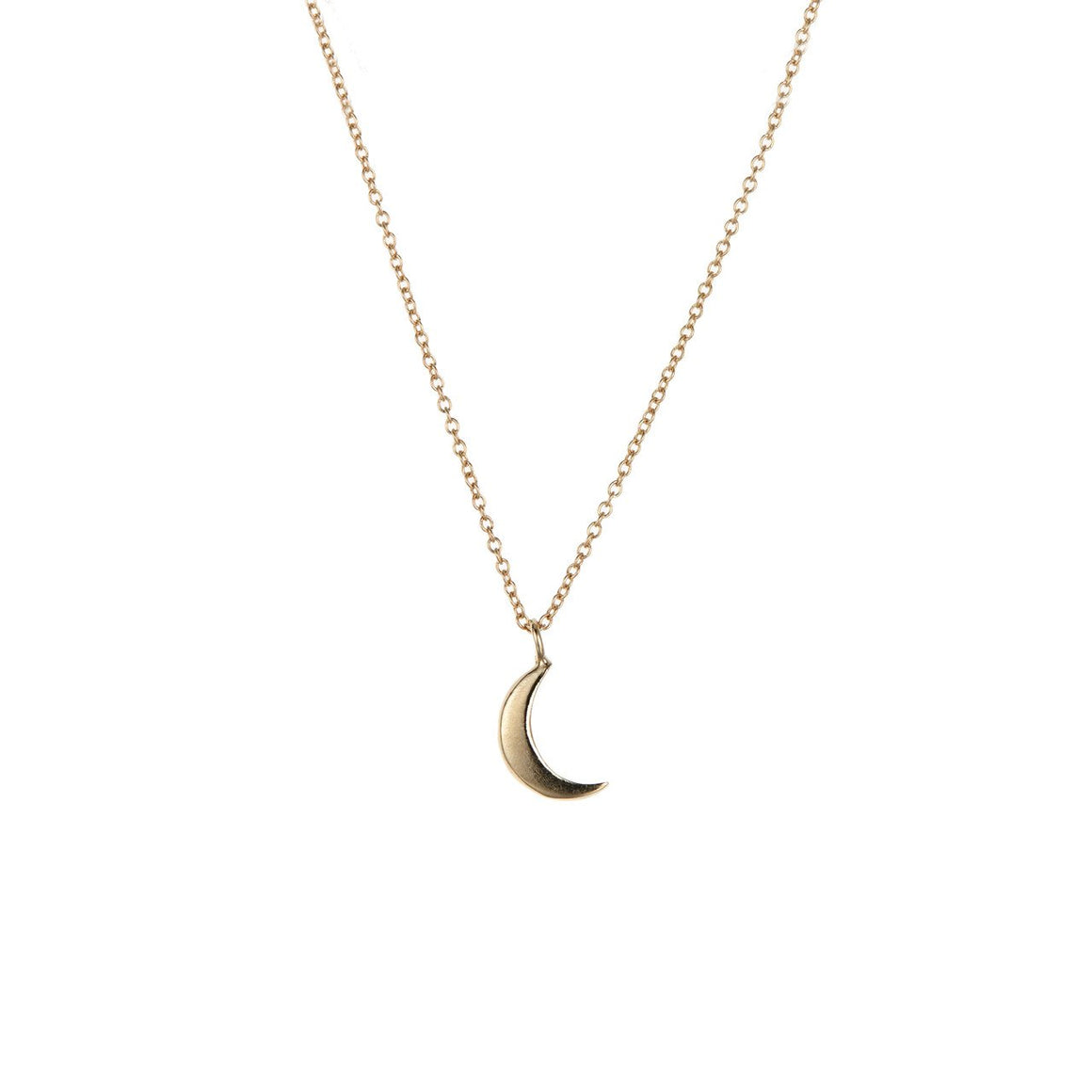 14K Crescent Moon Necklace - KESTREL