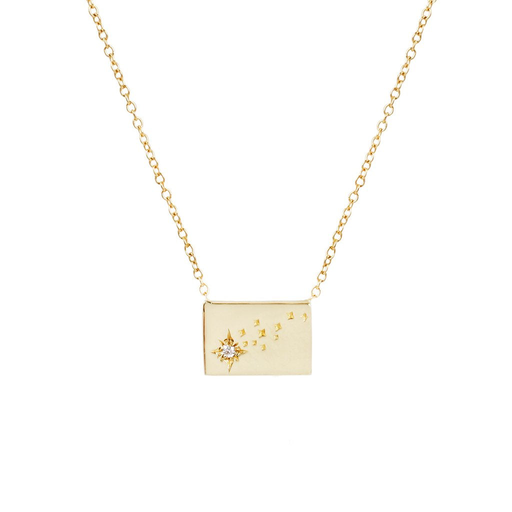 Postcard Charm Necklace - Shooting Star
