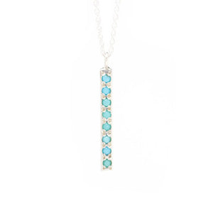 Sterling Turquoise Bar Necklace - KESTREL