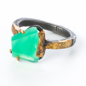 Large Chrysoprase Ring - KESTREL