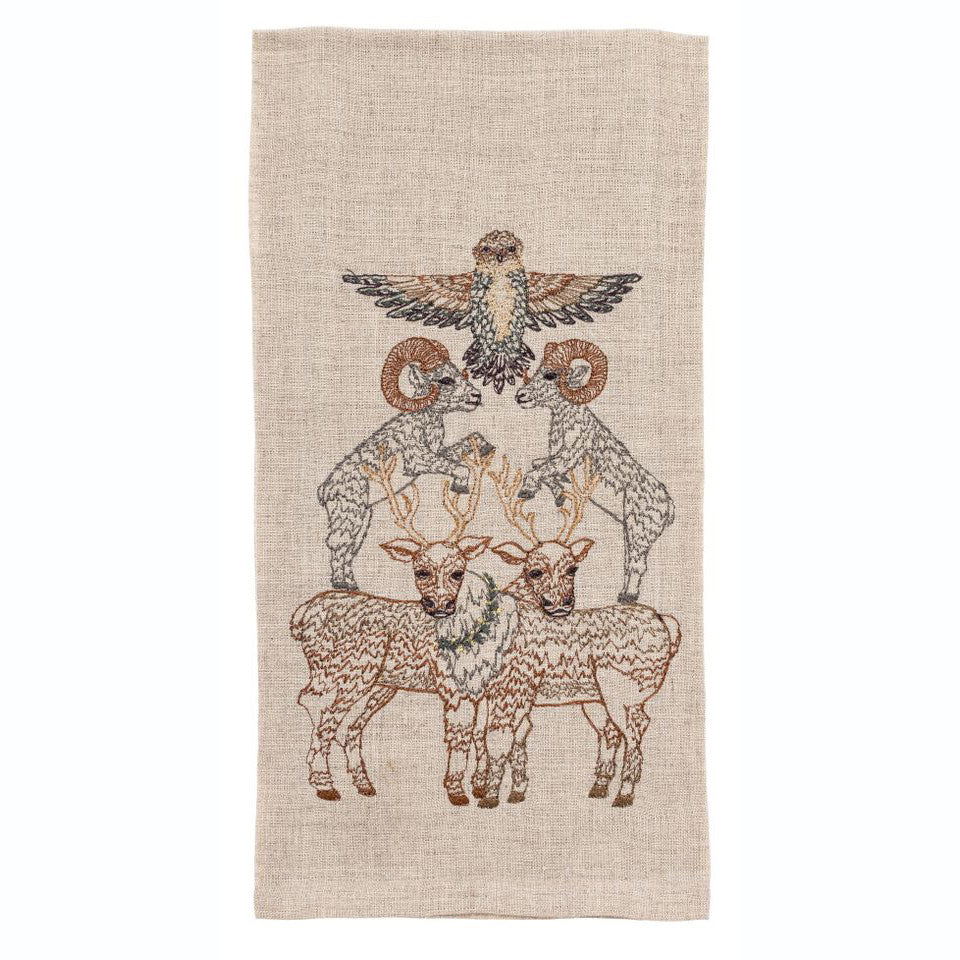 Antler Stack Tea Towel