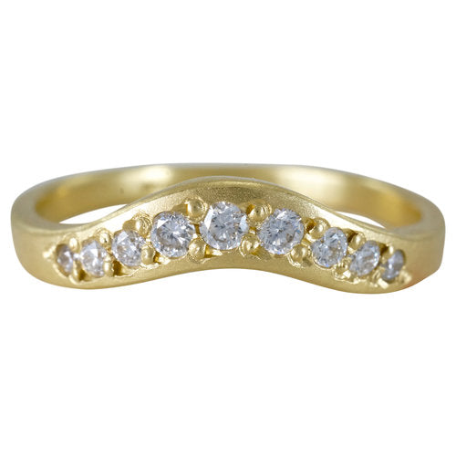 18K Arch Diamond Band