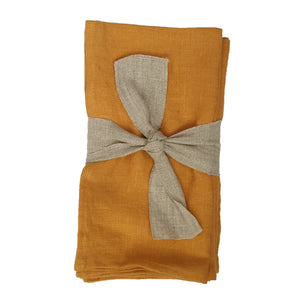 Linen Napkins - Autumn Gold (Set of Four) - KESTREL