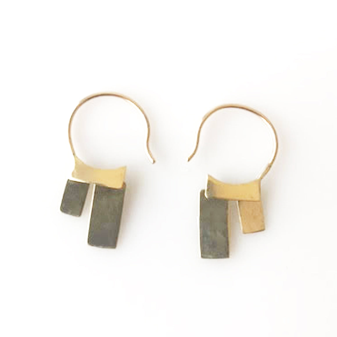Brass Bambu Hug Earrings - KESTREL