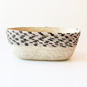 Oval Palm Basket - Pinto Black