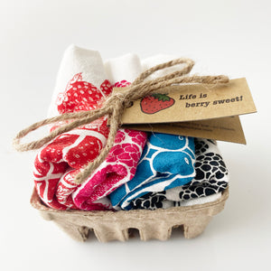 Mixed Berry Basket Napkin Set