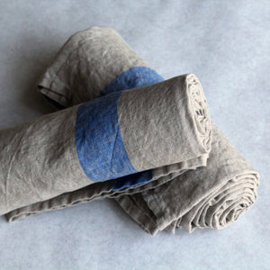 Travelweight Linen Bath Towel - Blue - KESTREL