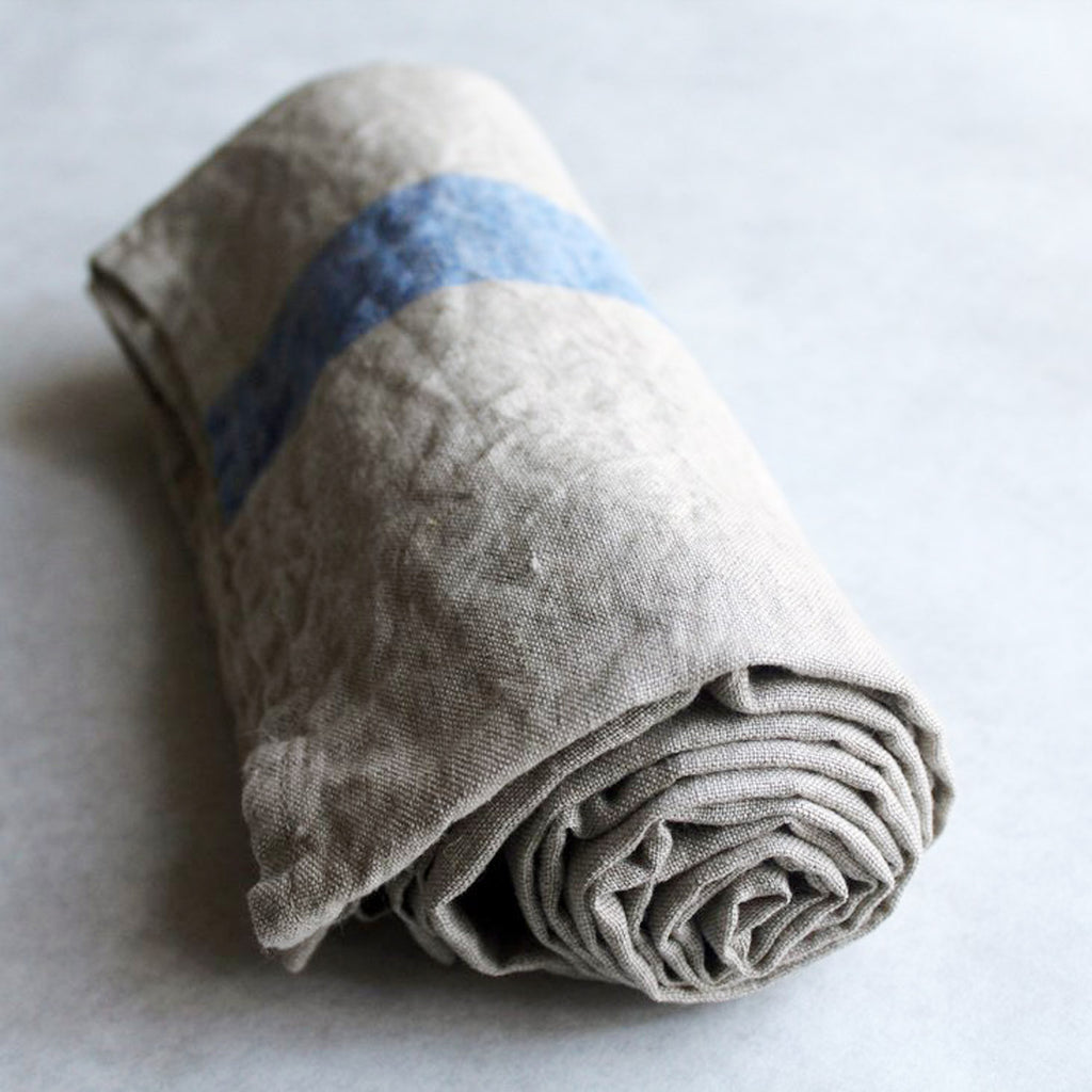 Travelweight Linen Bath Towel - Blue