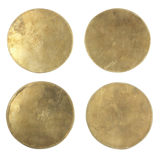 Set of 4 Brass Coasters