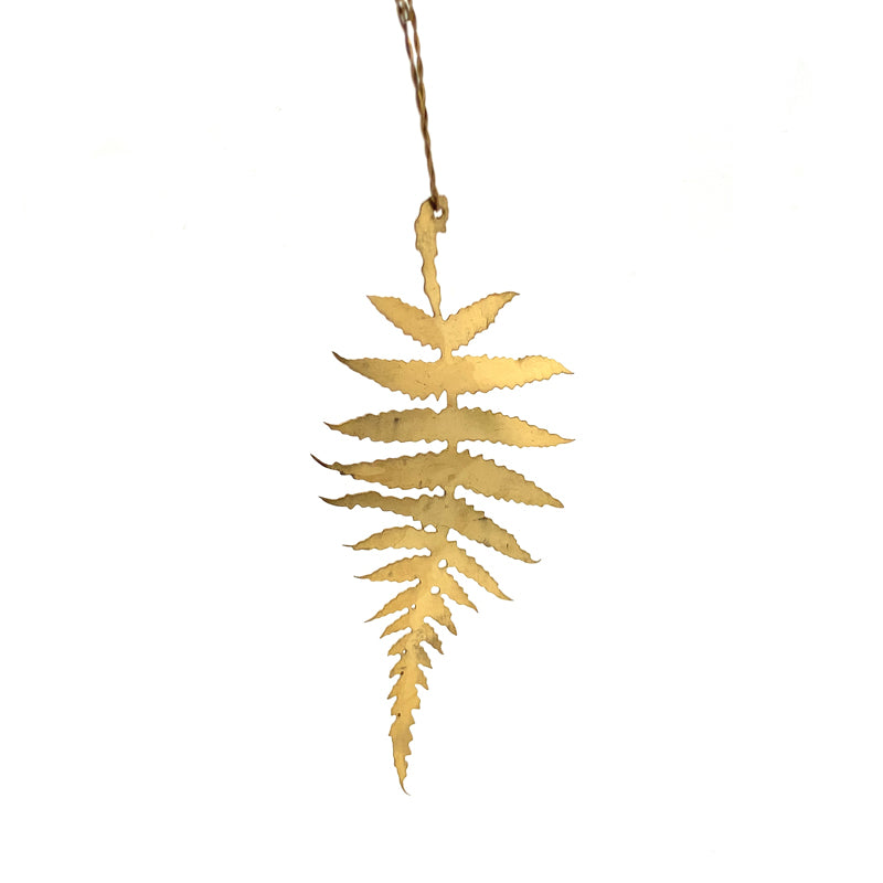 Brass Fern Leaf Ornament