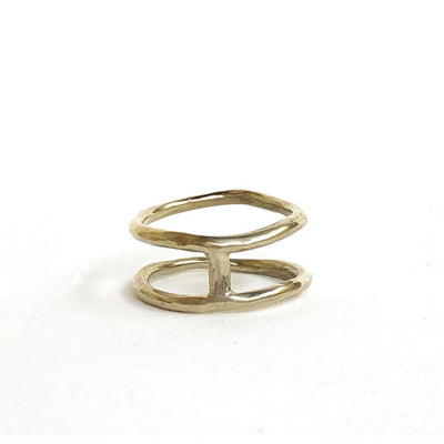 Brass Twins Ring