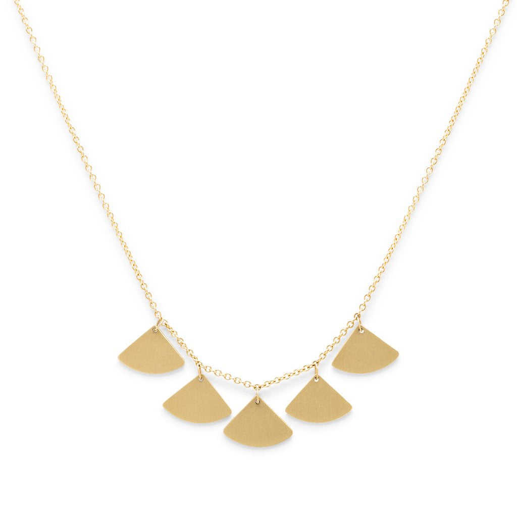 Gingko 5 Leaf Necklace