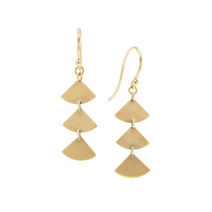 14K Gingko Simple Drop Earrings - KESTREL