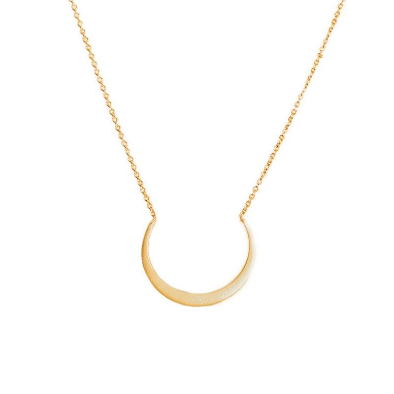 14k Petite Fertile Moon Necklace - KESTREL