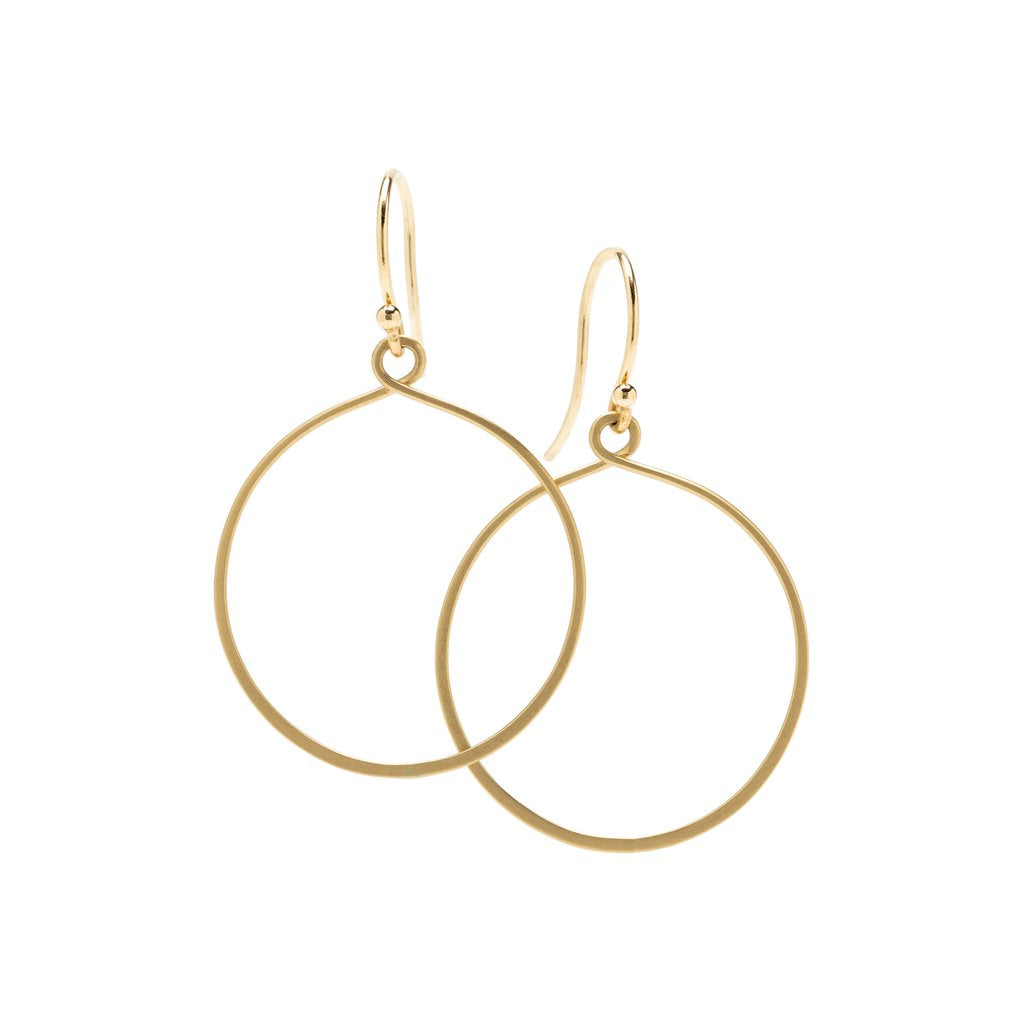 "14K Round Keyhole ""Hoop"" Earrings - KESTREL"