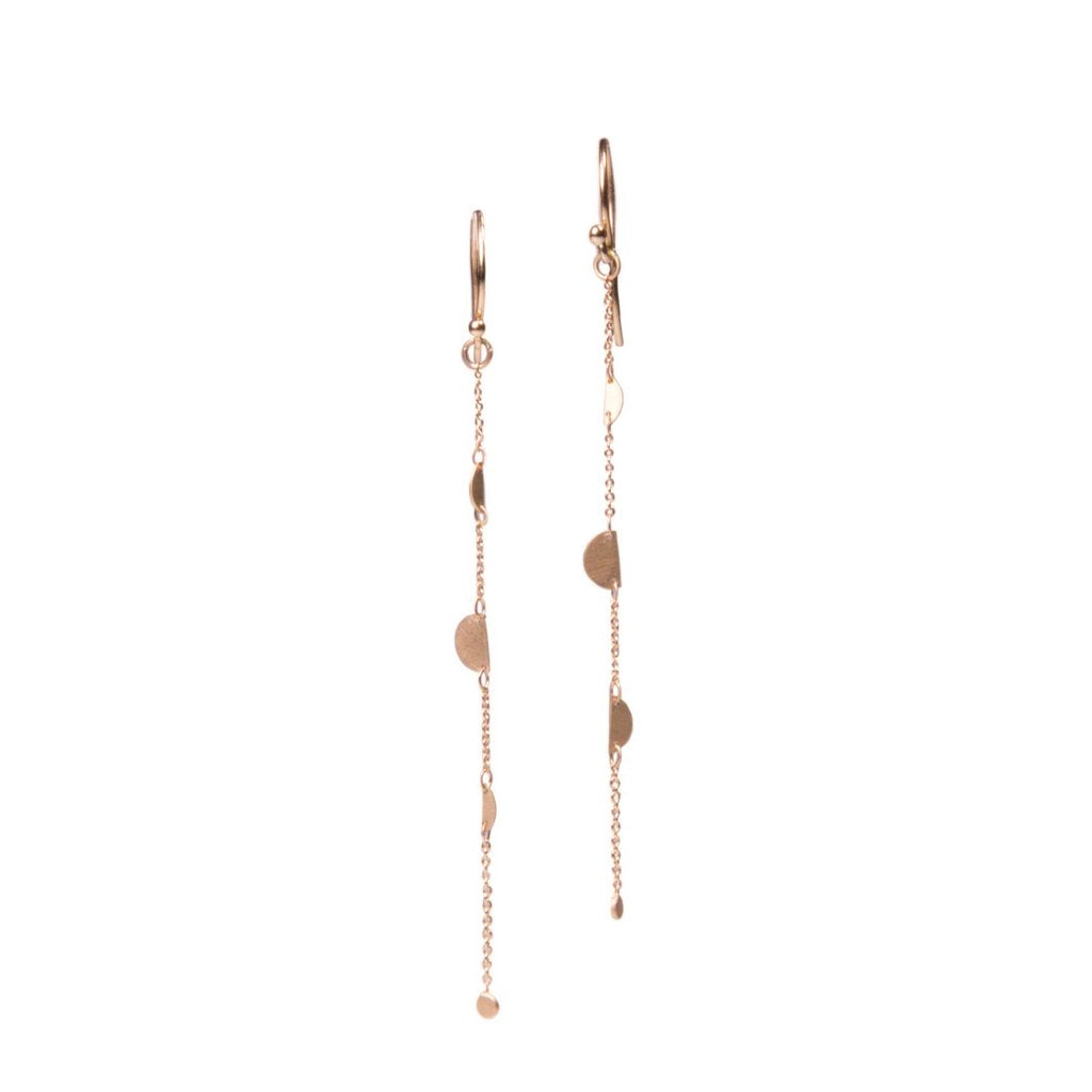 14K Snippet Drop Earrings - KESTREL