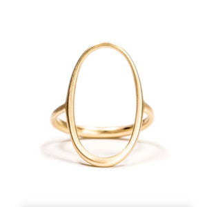 14k Open Oval Ring - KESTREL