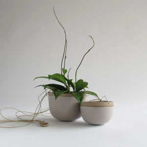 Grey Stoneware Hanging Planter - KESTREL