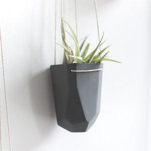 Wide Hanging Crystal Planter