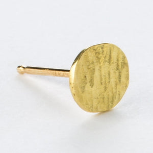 18K Gold Circle Studs - KESTREL