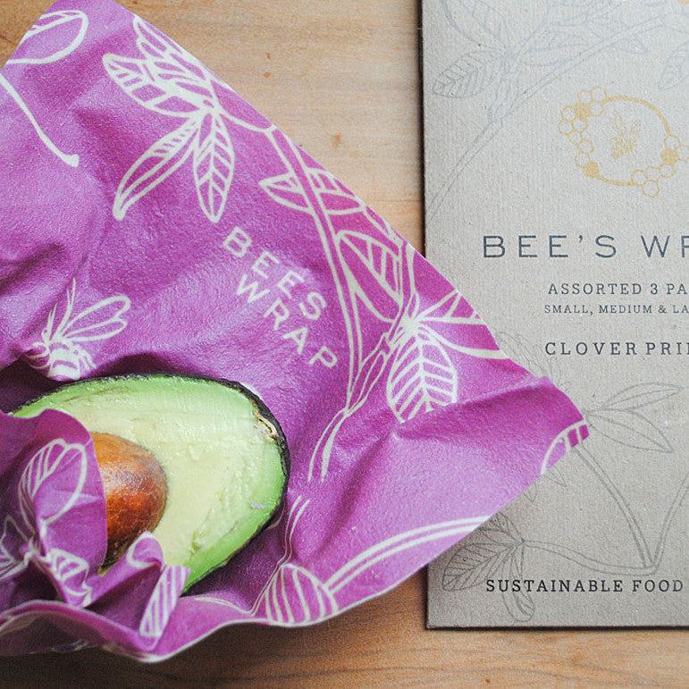 Bee's Wrap Clover Print 3 Pack - KESTREL