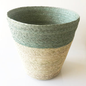 Conical Basket - Agave Stripe + Inside - KESTREL