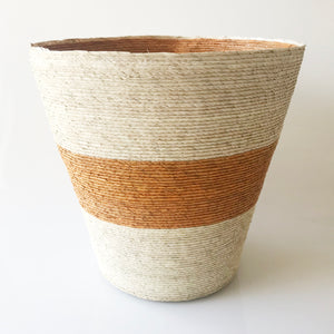 Conical Basket (Tangerine Stripe)