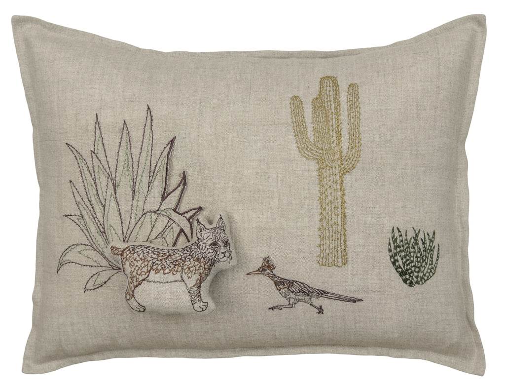 Saguaro Bobcat Pocket Pillow