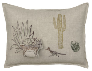 Saguaro Bobcat Pocket Pillow - KESTREL