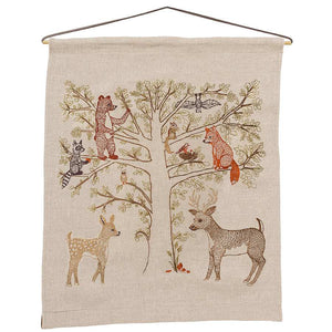 Woodland Living Tree Art Flag - KESTREL