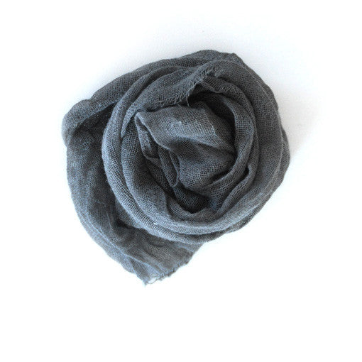 Cotton Scarf in Basalt