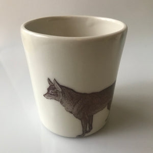 12oz Porcelain Coyote Tumbler - KESTREL