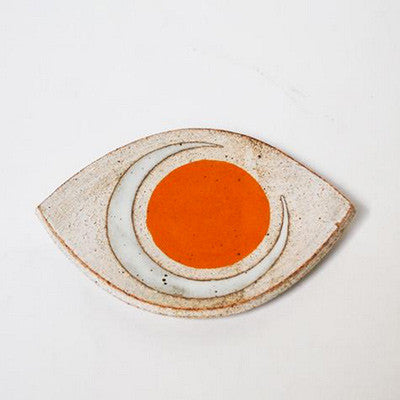 Small Eye Slab Dish - Marigold/Crescent