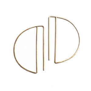 Gold Fill Deco Hoops