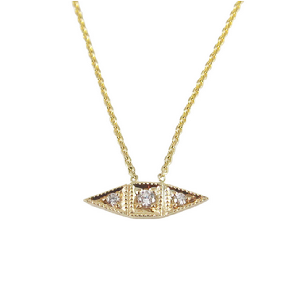 14K Deco Point Necklace