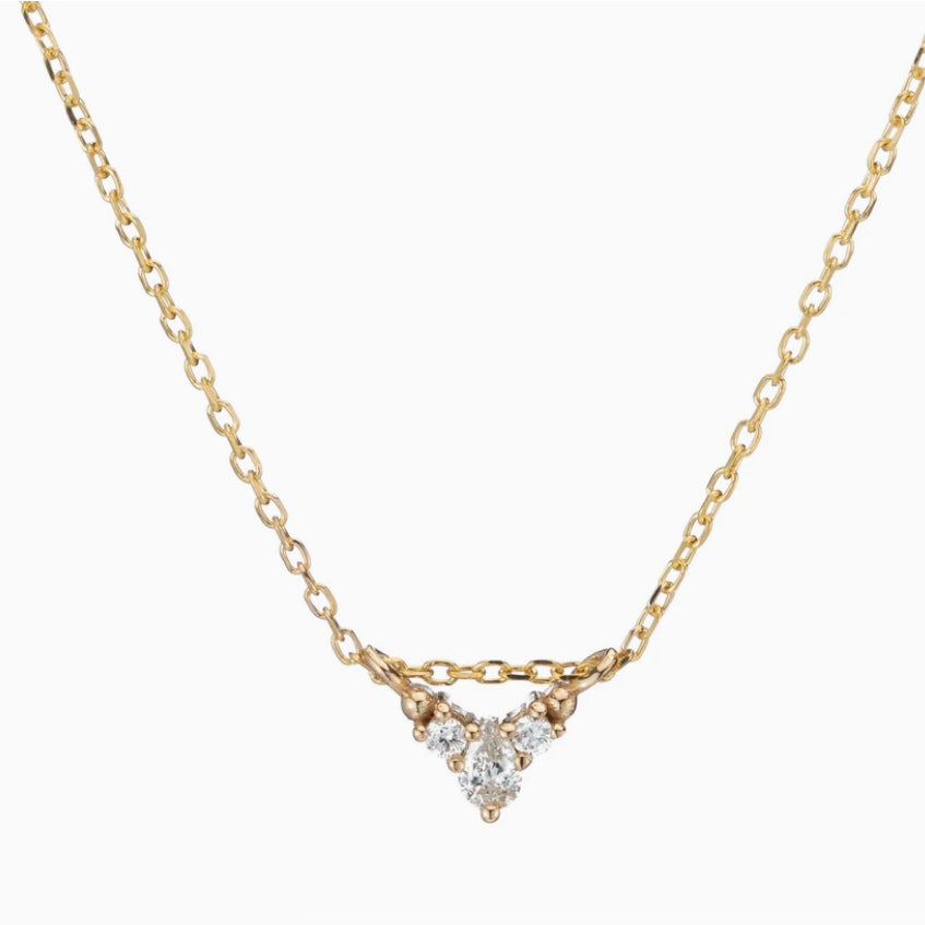 14k Diamond Peak Necklace