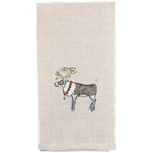 Reindeer + Bells Tea Towel