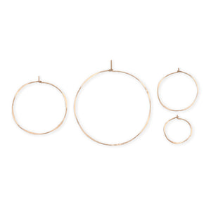Fail Gold Fill Round Hoop