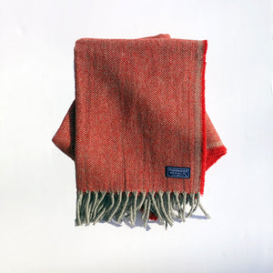 Ashby Twill Wool Scarf (Red) - KESTREL