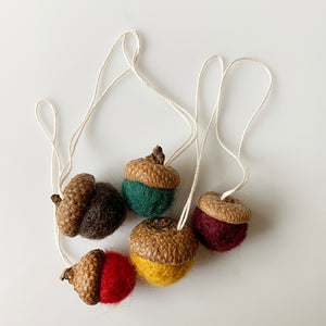 Felted Acorn Ornaments