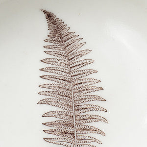 Porcelain Male Fern Jewelry Dish