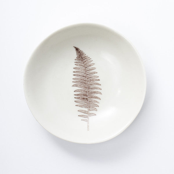 Porcelain Male Fern Dish