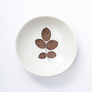 Porcelain Rose Leaf Dish