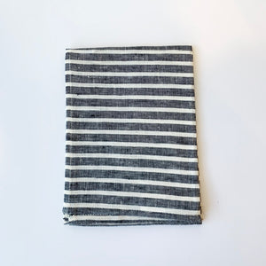 Linen Kitchen Towel - Chunky Stripe