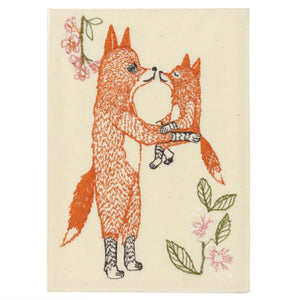Fox Mama Embroidered Card - KESTREL