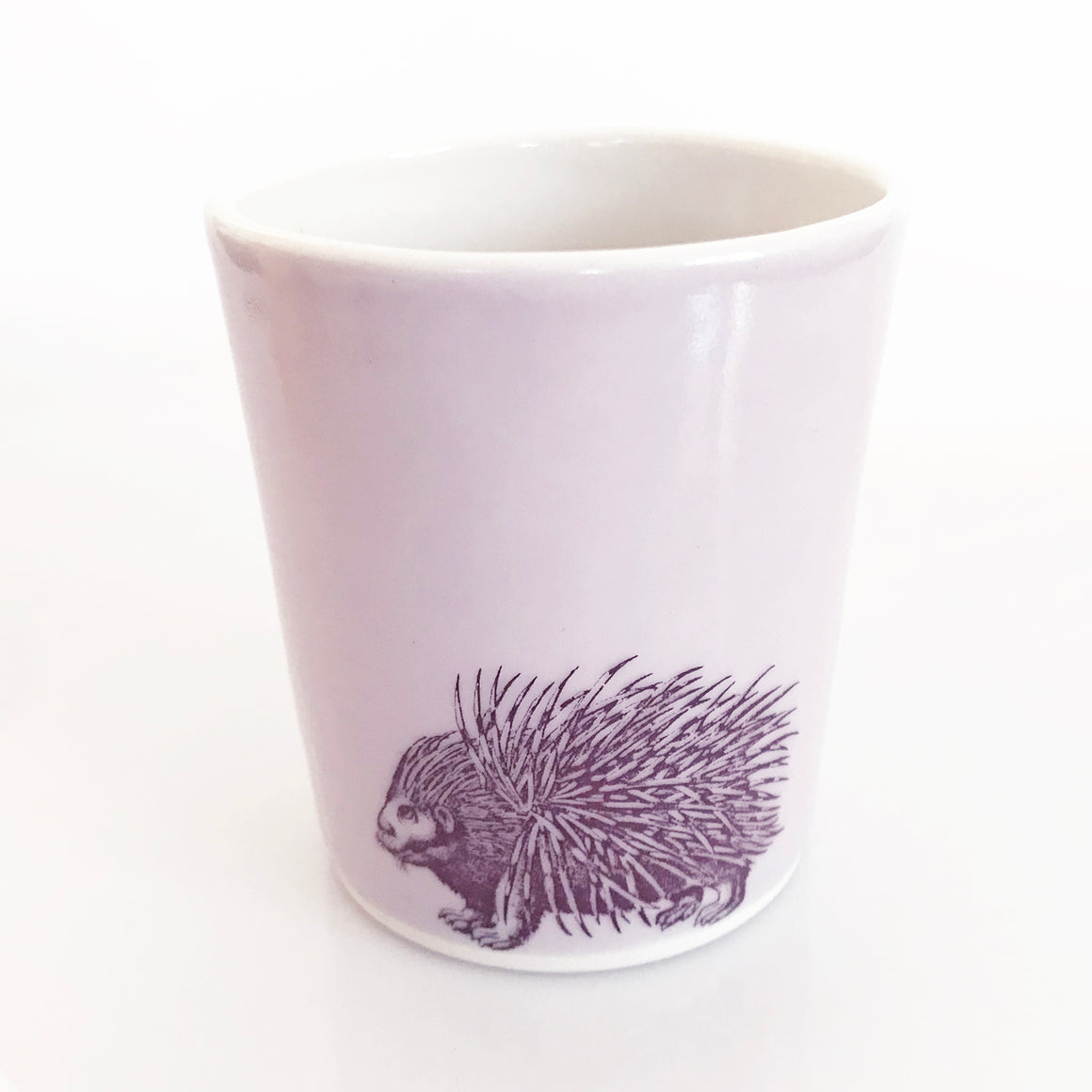 12oz Porcelain Animal Tumbler (Porcupine)