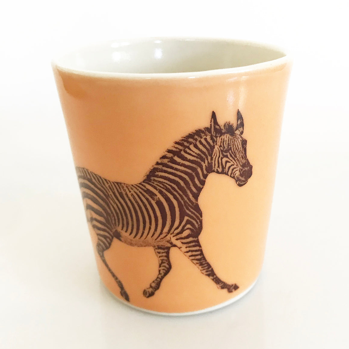 12oz Porcelain Animal Tumbler (Zebra) - KESTREL
