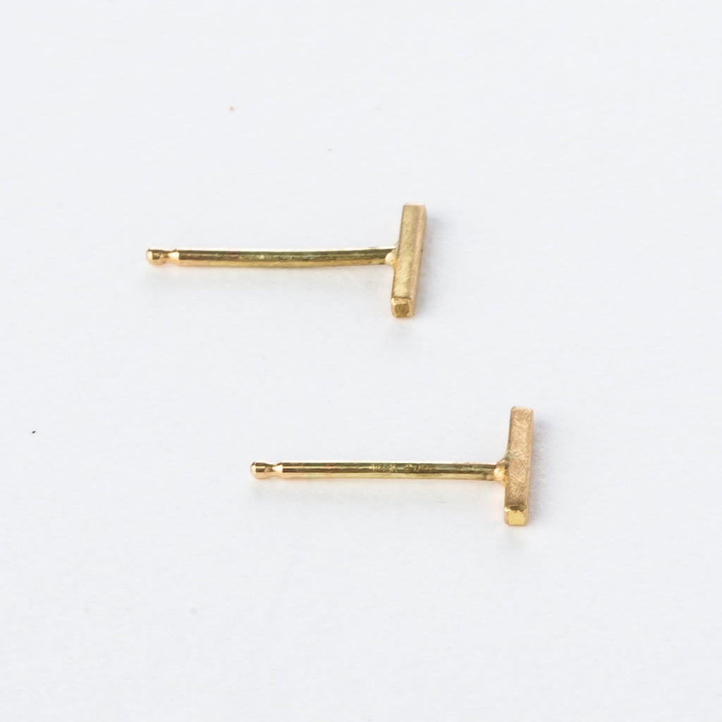 18K Tiny Bar Studs - KESTREL