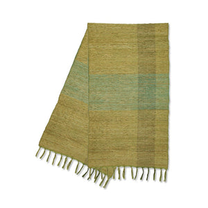 Vetiver Table Runner (Green Blocks)
