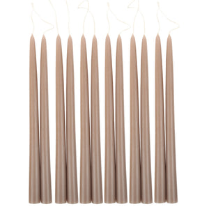 "12"" Taper Candles - Greige - KESTREL"